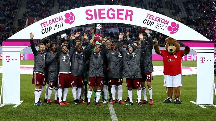 连胜杜塞美因茨,拜仁获得电信杯冠军