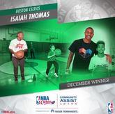 小托马斯荣获12月份NBA关怀社区援助奖
