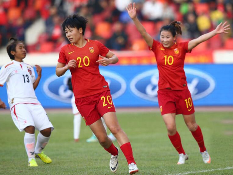 四国赛:张睿梅开二度,女足2-0胜缅甸