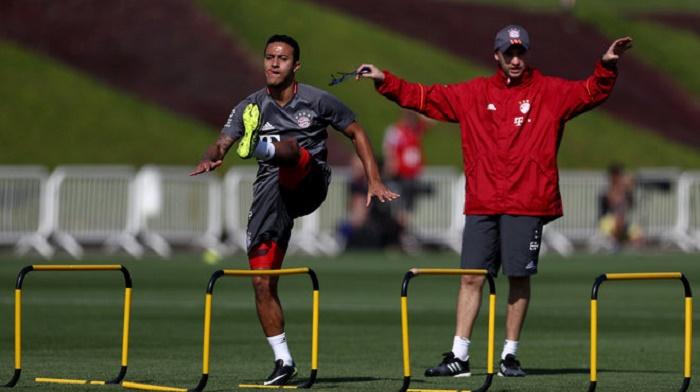 蒂亚戈重回训练场,具体归期还未确定