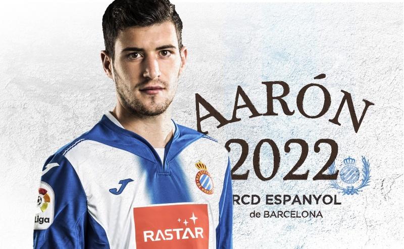官方:西班牙人与年轻边卫阿隆续约至2022年