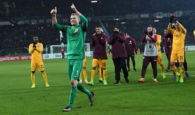 德国杯:萨内失点,法兰克福2-1力擒汉诺威