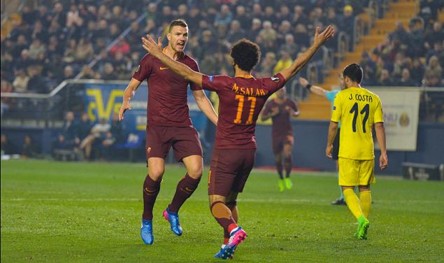 欧联杯:哲科戴帽,罗马4-0比利亚雷尔