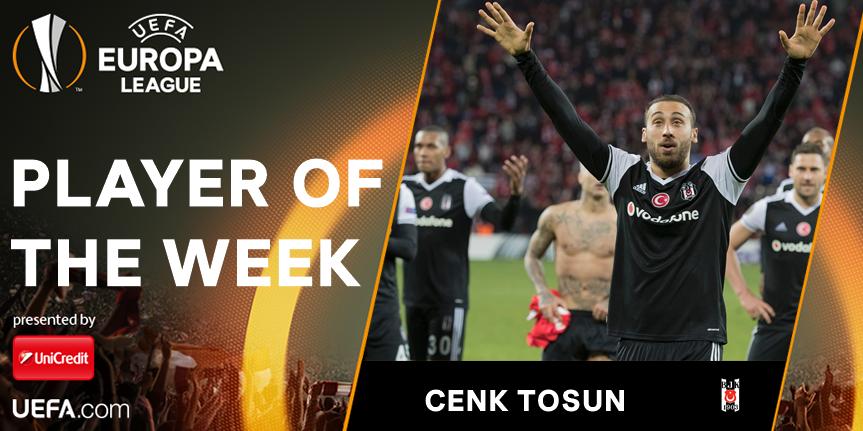 欧联杯本周最佳球员:贝西克塔斯前锋托松