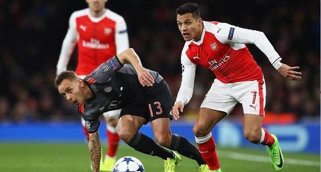 欧冠:比达尔双响,拜仁5-1总比分10-2阿森纳
