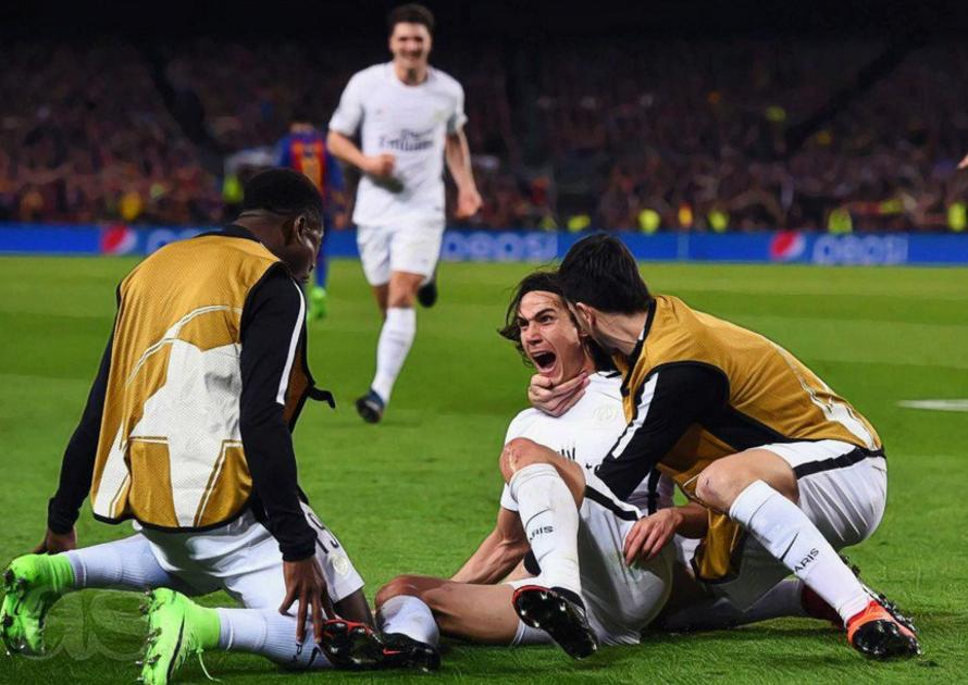 第三次欧冠遭逆转淘汰,卡瓦尼进球难挽巴黎败局