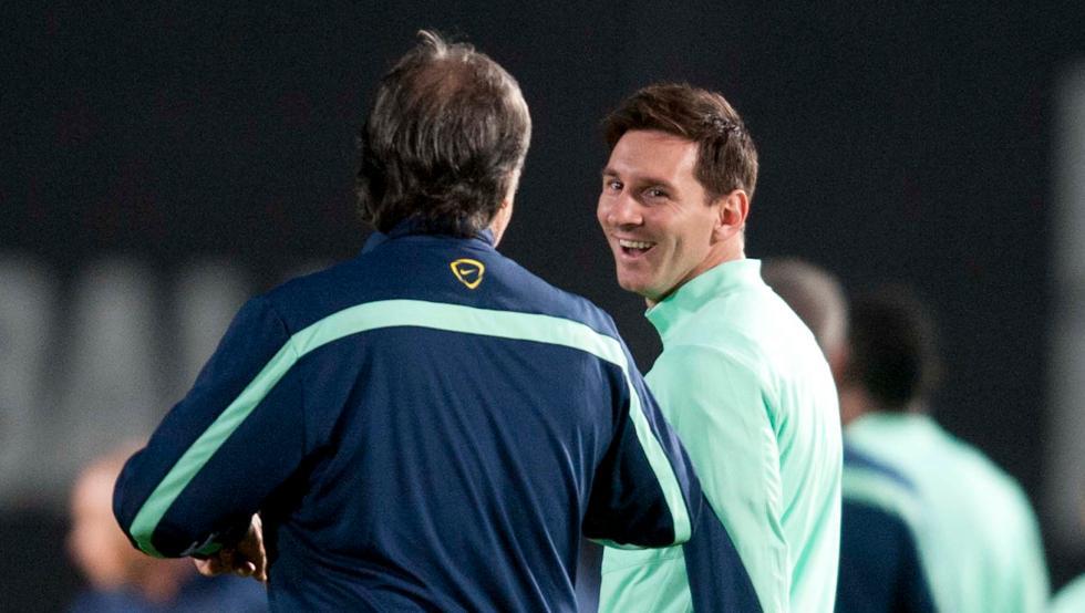 马蒂诺:梅西是世界最佳球员,谦逊而不多言语