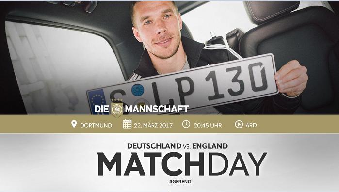 德国vs英格兰首发:波多尔斯基领衔