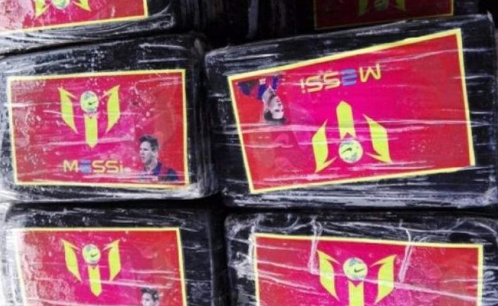 秘鲁警方查获以梅西头像做包装的巨额毒品