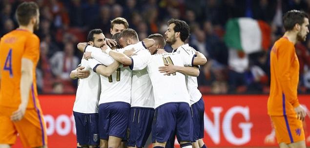 罗马尼奥利乌龙埃德尔博努奇破门,意大利2-1荷兰