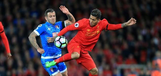 半场:库蒂尼奥破门,利物浦1-1伯恩茅斯