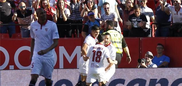 西甲:塞维进球大战胜拉科,西班牙人力克阿拉维斯