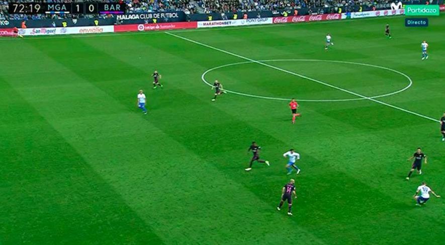 GIF:越位了吗?马拉加进球被裁判吹掉