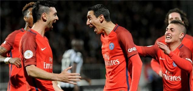 迪马利亚梅开二度,巴黎客场2-0昂热联赛6连胜