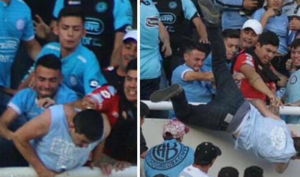 阿根廷联赛球迷被极端分子推下看台,抢救无效身亡