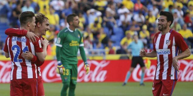 加梅罗双响托雷斯建功,马竞5-0拉斯帕尔马斯