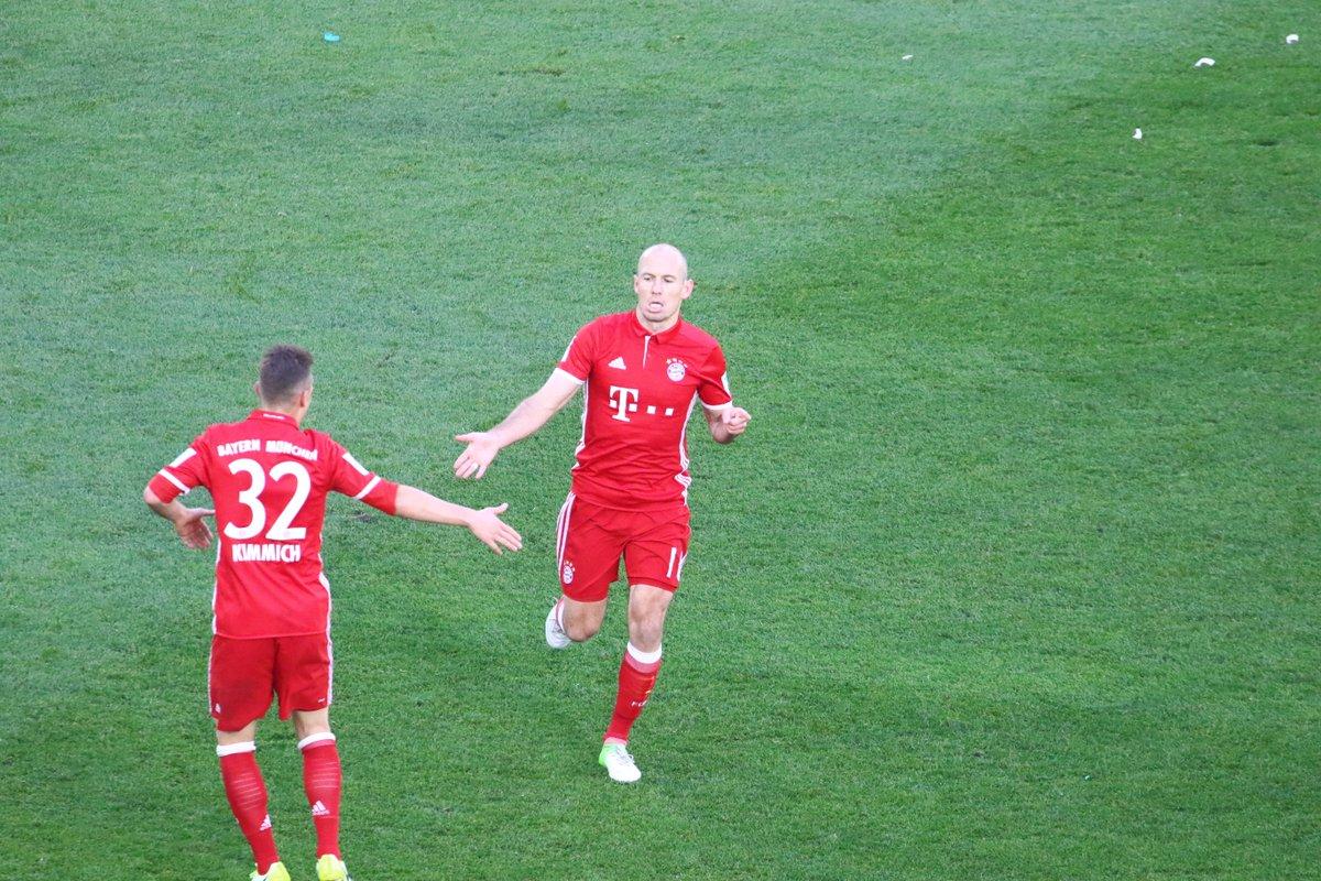 GIF:罗本内切后破门!拜仁4-0领先