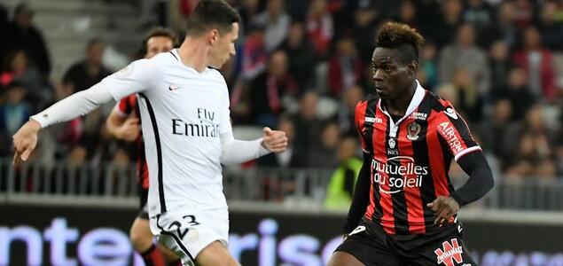 巴洛特利佩雷拉建功,尼斯3-1巴黎圣日耳曼
