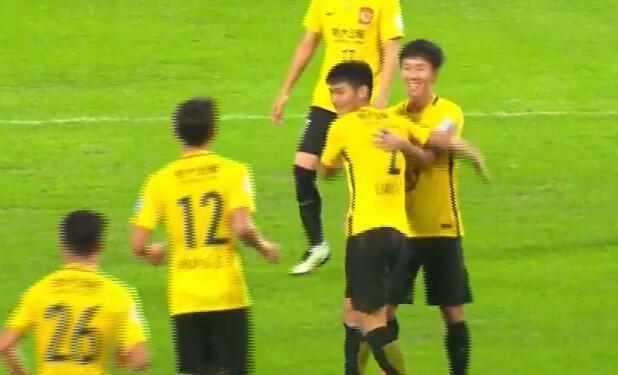 GIF:廖力生进球,梅县0-1恒大