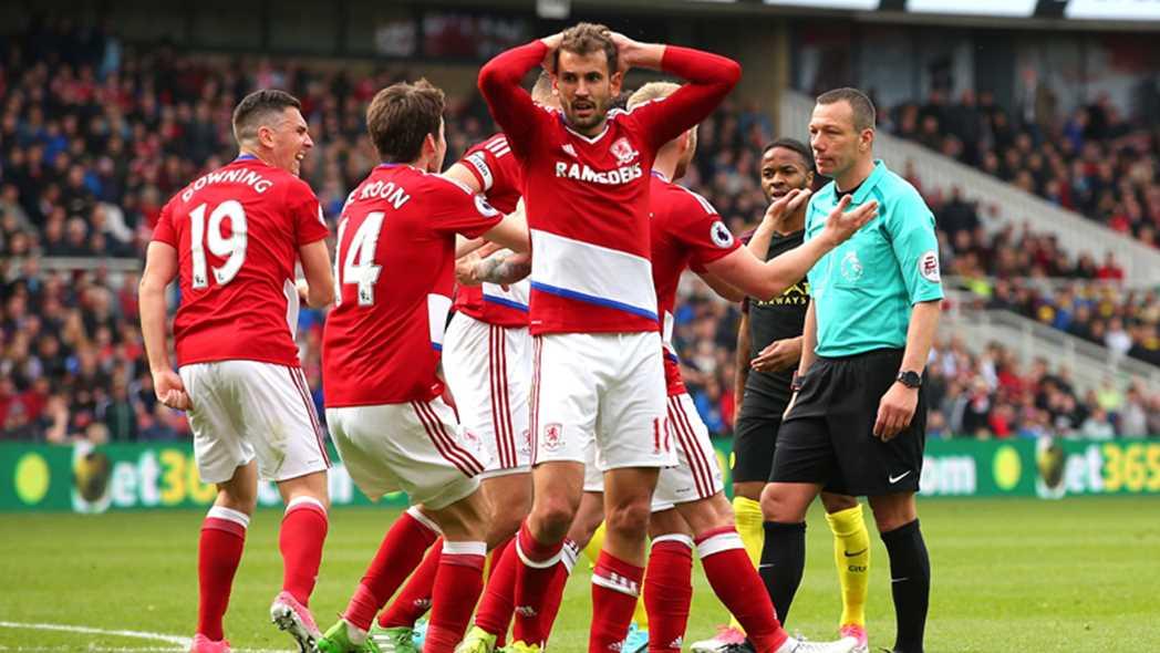 官方:英足总就米德尔斯堡球员不当行为提出指控