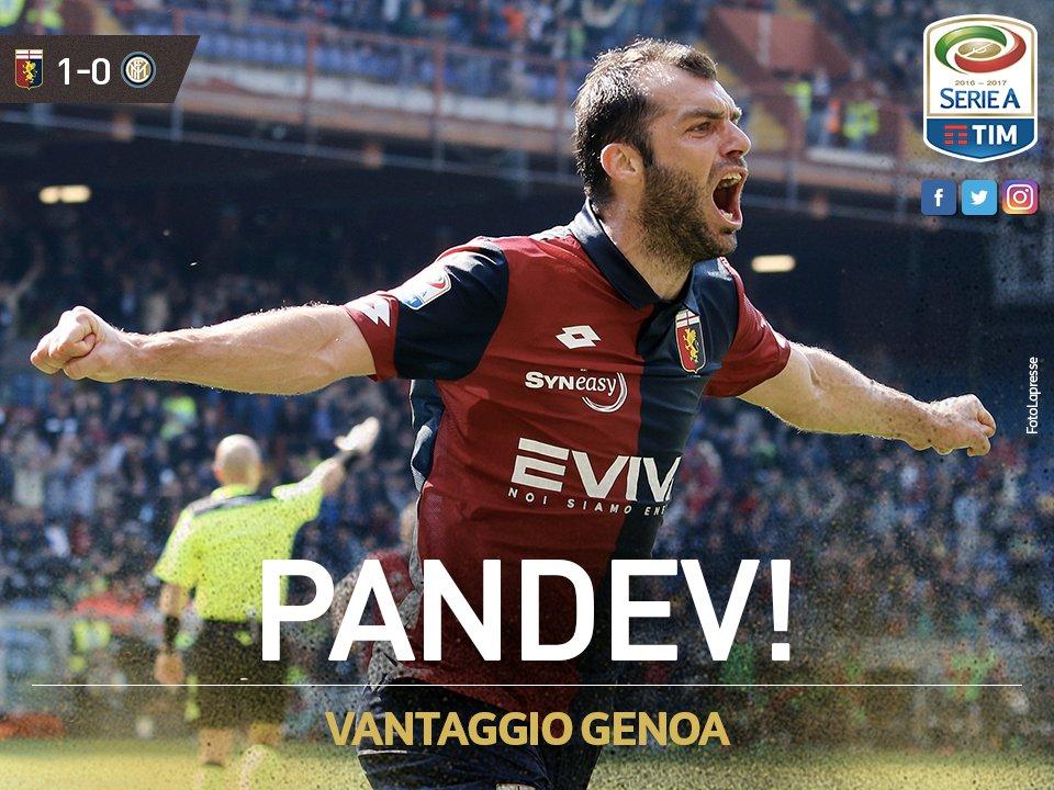 GIF:潘德夫补射破门,热那亚1-0领先国米
