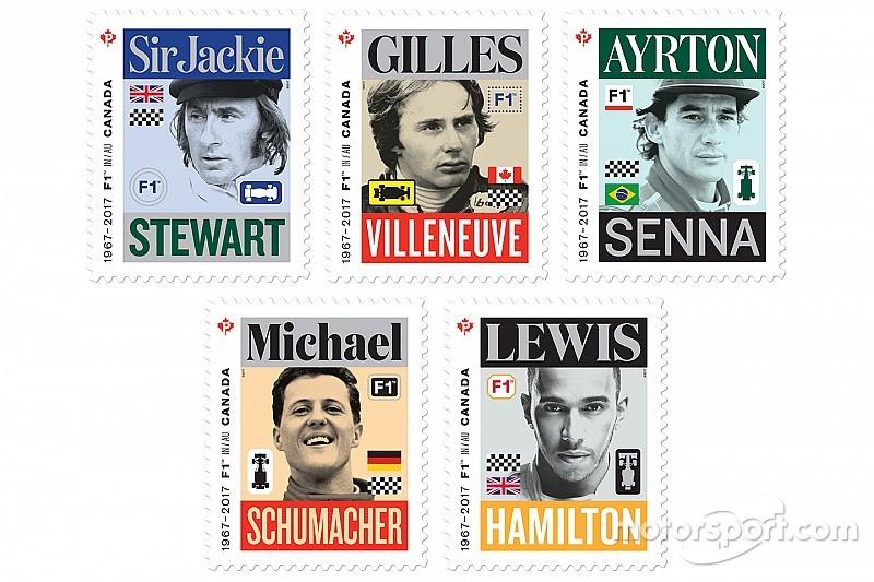 加拿大邮政推出F1纪念邮票,汉密尔顿登榜