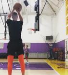 手感不错,帕森斯晒自己的投篮训练视频