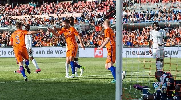 维尔特曼双响罗本点射,荷兰5-0科特迪瓦