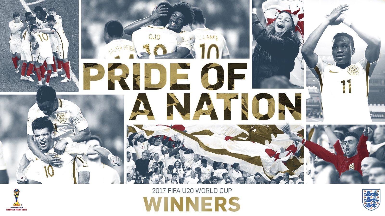 青春风暴!英格兰青年队首夺U20世界杯冠军