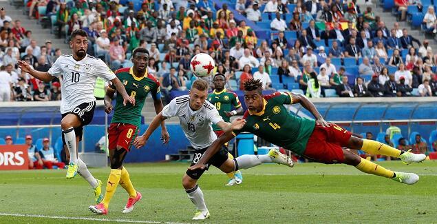 维尔纳梅开二度,德国3-1喀麦隆小组第一出线