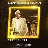 比尔-拉塞尔成为首位NBA终生成就奖得主