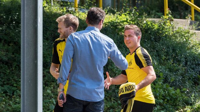 格策重回多特训练,奥巴梅扬也回到训练场