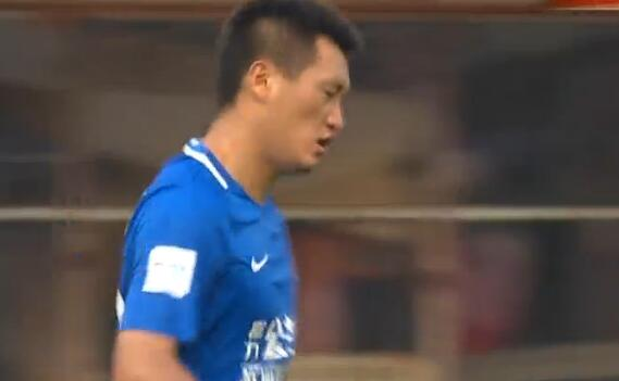 GIF:唐淼突破传中肖智包抄扳平比分,亚泰2-2富力