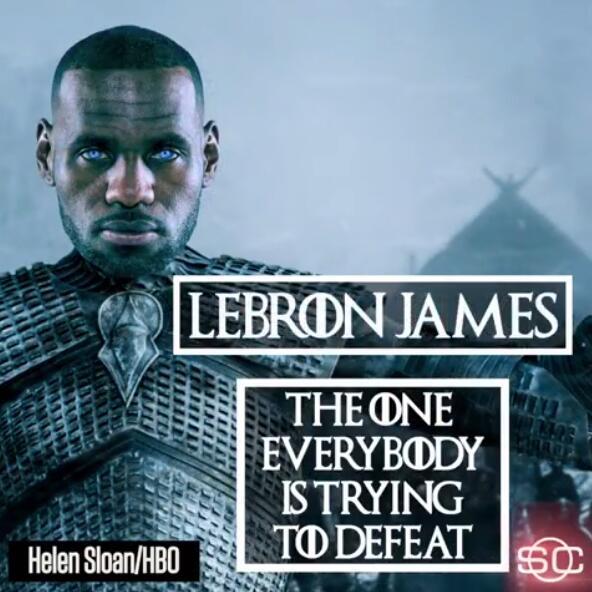 媒体晒视频:NBA球员化身《权力的游戏》人物