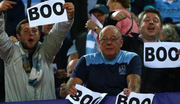 若其球迷在新赛季嘘欧冠主题曲,曼城将不会面临惩罚