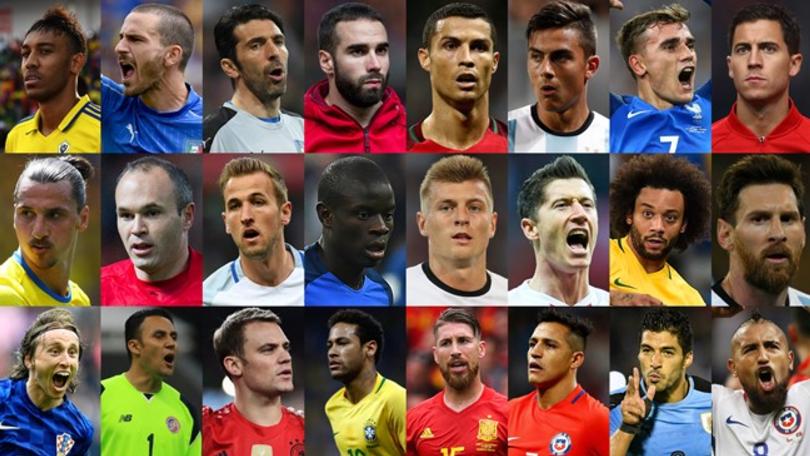 国际足联年度最佳球员24人候选名单:皇马7人入选