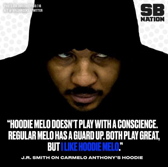 JR-史密斯:穿連帽衫的安東尼比較放松隨意