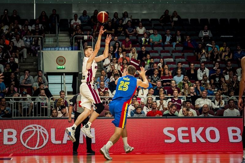 拉脫維亞熱身賽大勝羅馬尼亞,貝爾坦斯14分