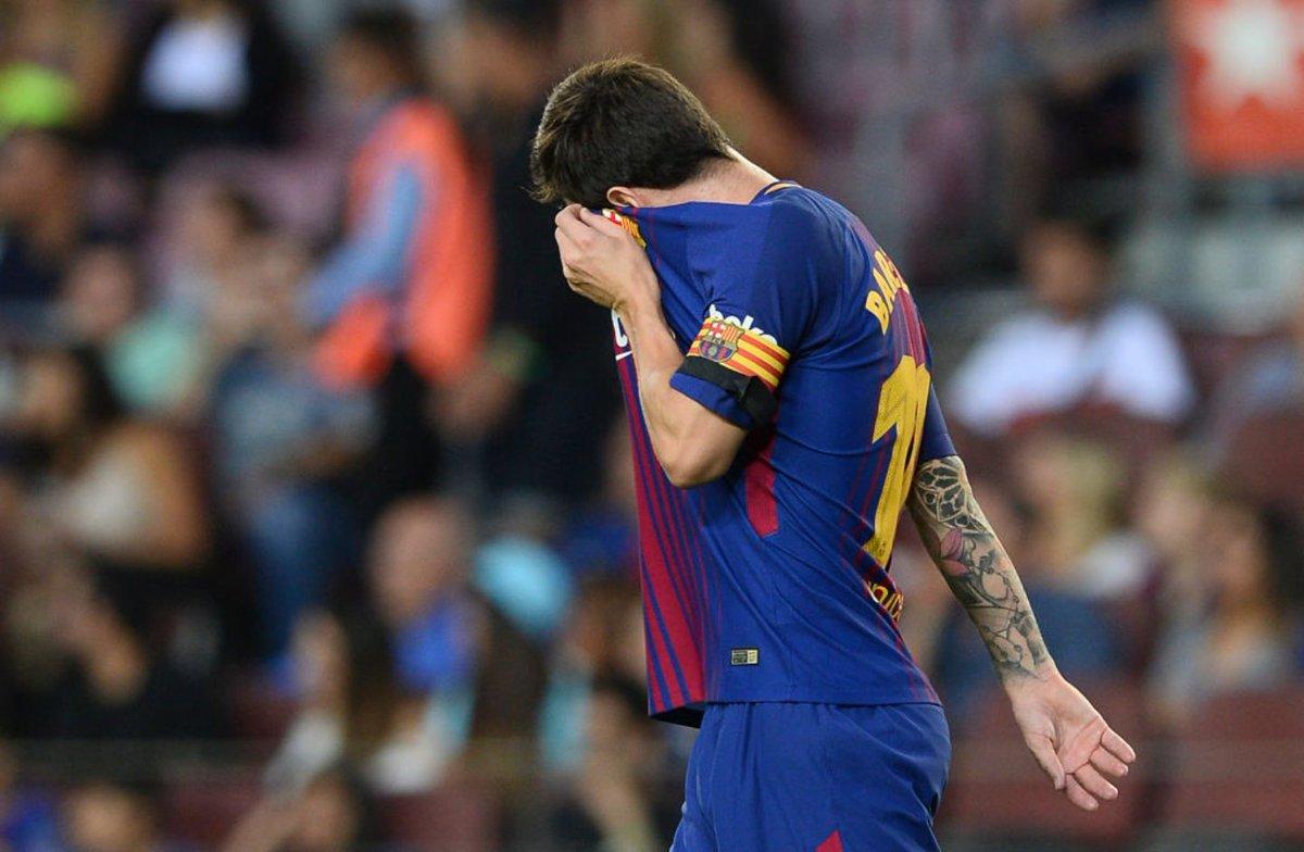 不走运,梅西实现单场比赛中柱帽子戏法