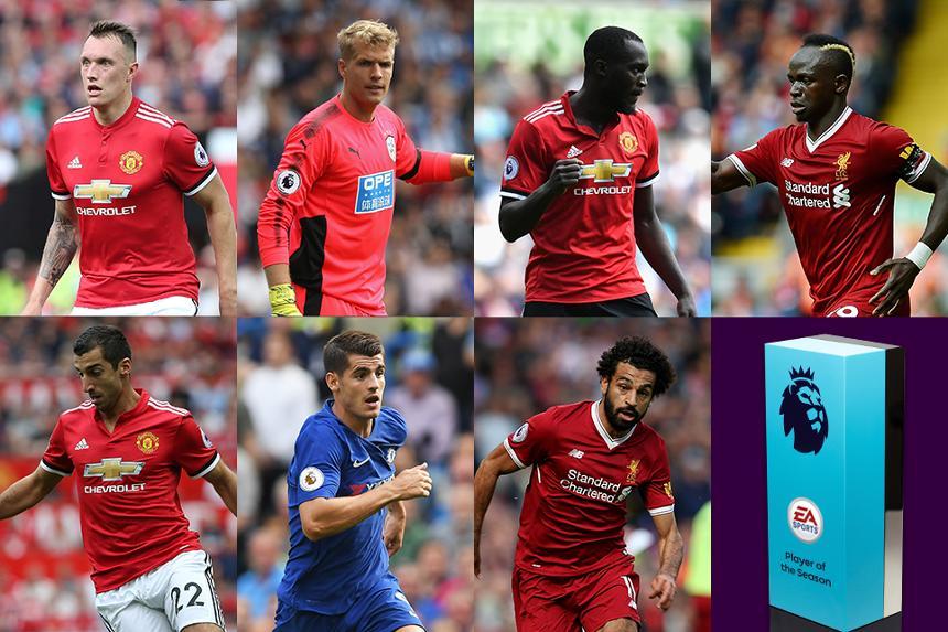 英超8月最佳球员候选:曼联三人入选