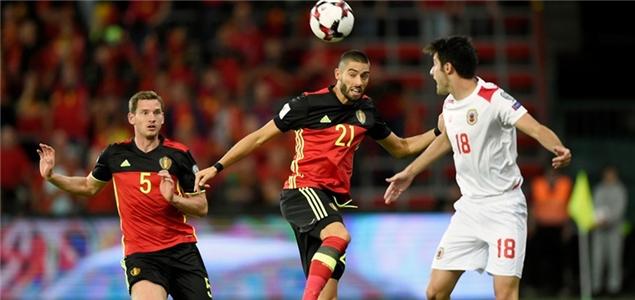 默尼耶进球助攻双帽子卢卡库3球,比利时9-0直布罗陀