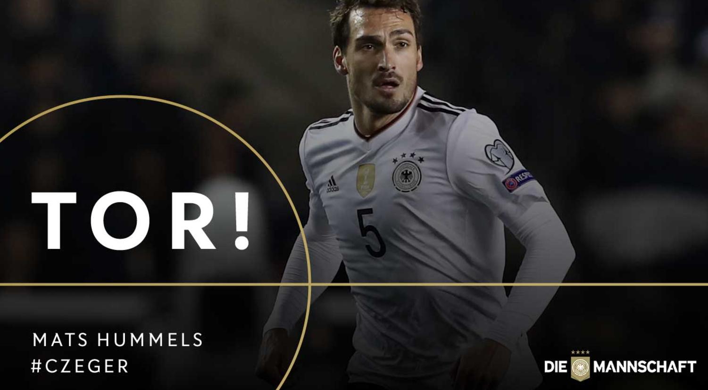 GIF:胡梅尔斯献绝杀,德国2-1捷克