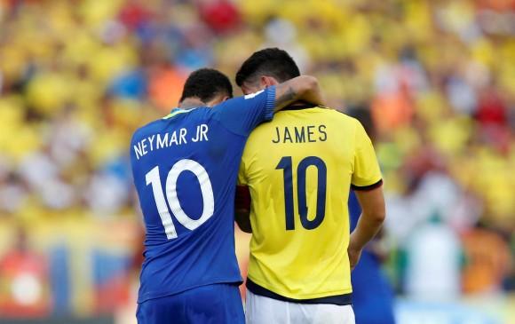 赛后相聊甚欢,哈梅斯:我和内马尔关系一直很好