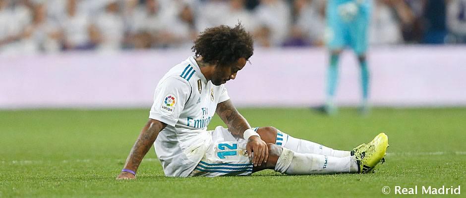 官方:马塞洛左腿肌肉撕裂,媒体称将伤缺一个月