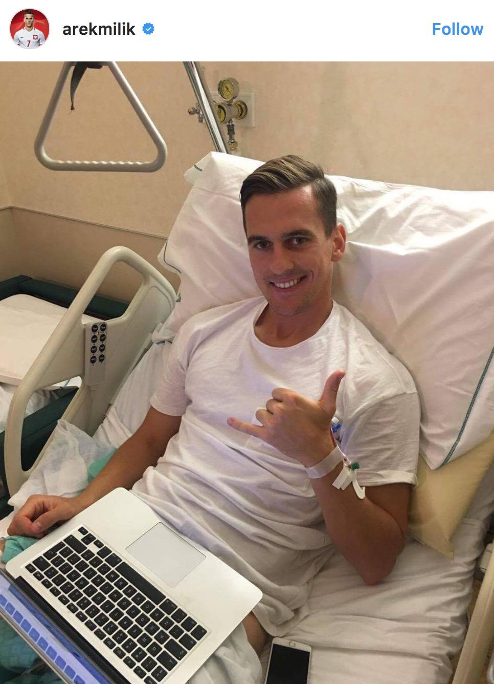 米利克手术后感谢球迷:继续为我祈祷吧
