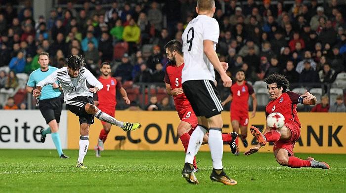达胡德建功,德国U21青年队欧预赛大胜阿塞拜疆
