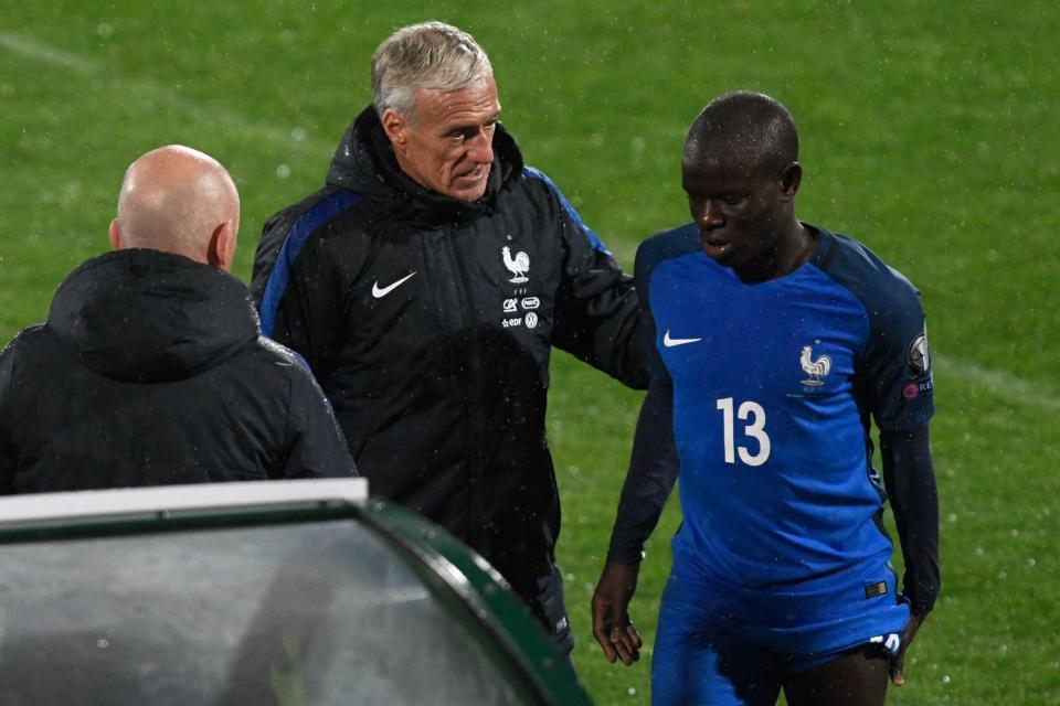 FIFA病毒频袭,坎特在国家队比赛中腿筋拉伤