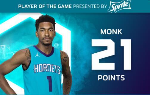 黄蜂主帅:蒙克很会得分,他也很会学习