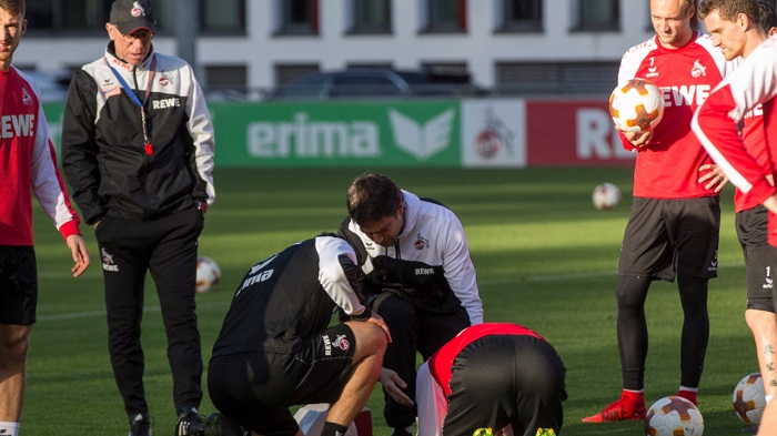科隆体能教练训练中踢伤队长莱曼