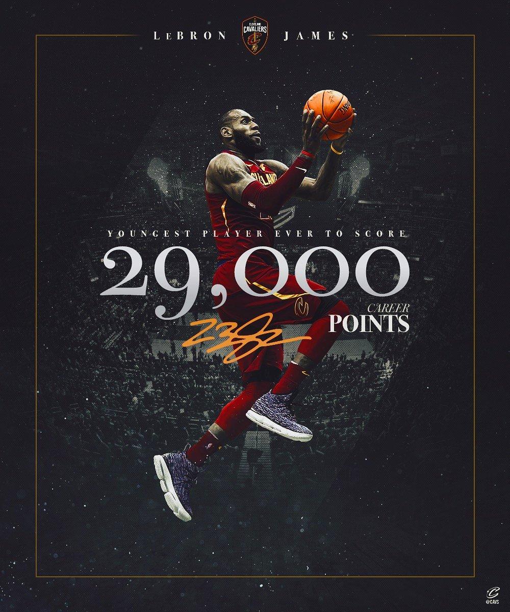 里程碑!詹姆斯生涯得分达到29000